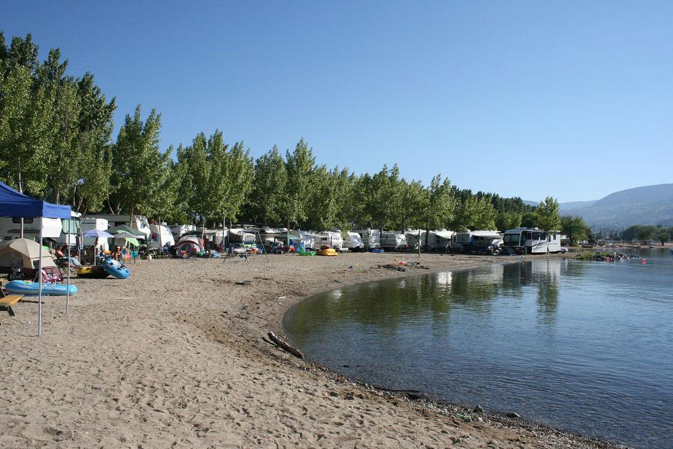 Wright S Beach Camp Campingplatz In Penticton Bc Kanada