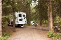Stellplatz auf dem Castle Mountain Campground
