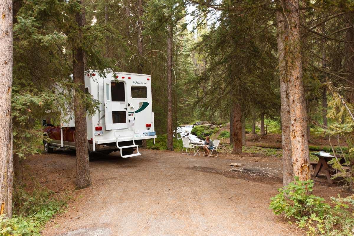 Stellplatz auf dem Castle Mountain Campground