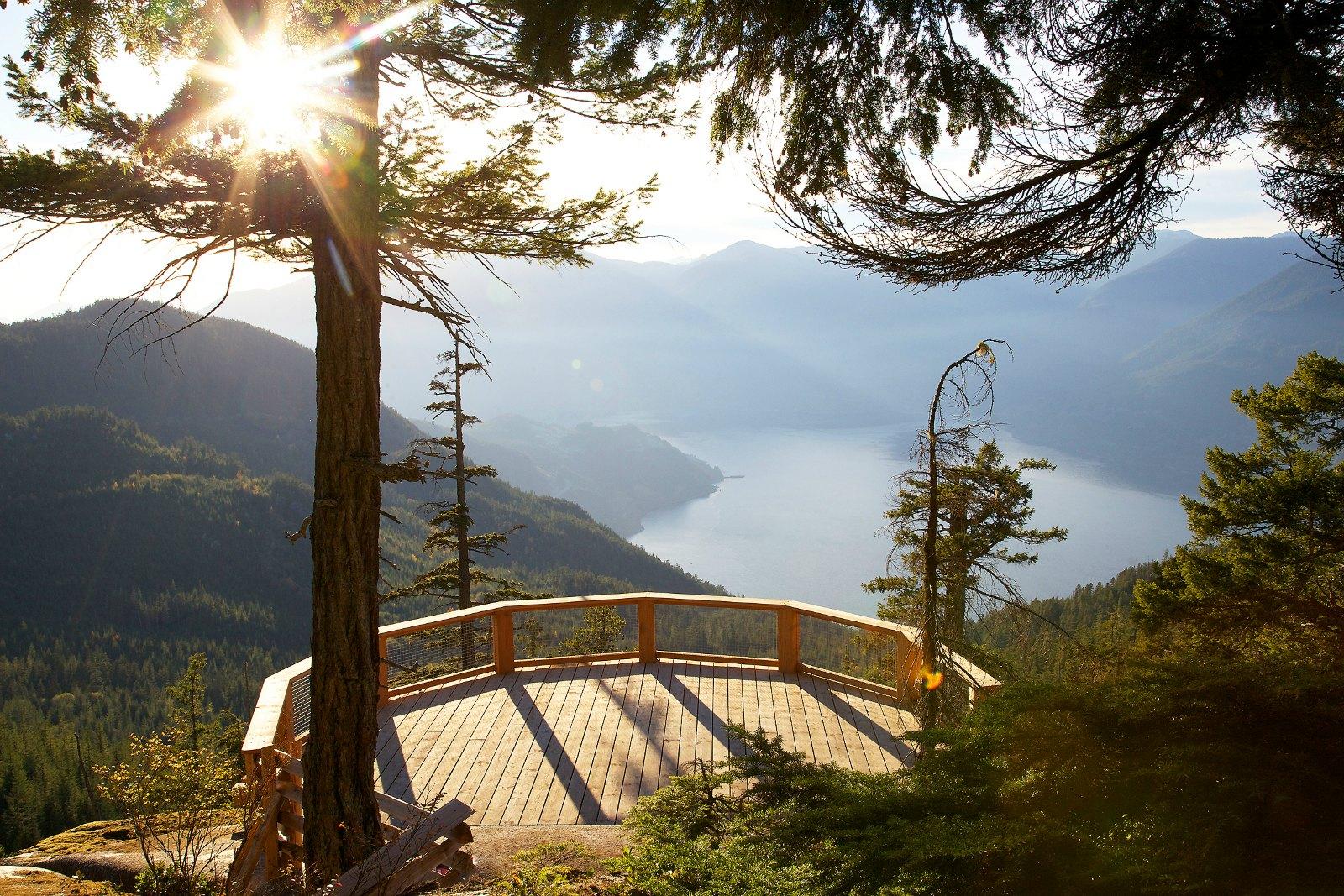 Aussichtsplattform an der Sea to Sky Gondola