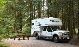 Campsite im Goldstream Provincial Park, Kanada