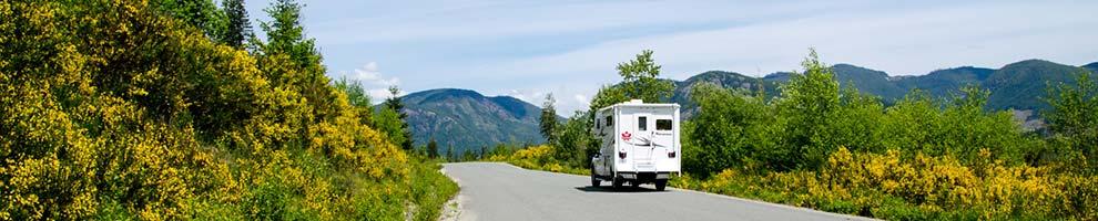 Wohnmobil während einer Tour in Kanada