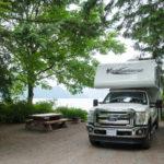 Campsite in Provincial Park in Kanada
