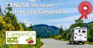 CANUSA ist neuer Partner von CamperCo für Wohnmobilreisen