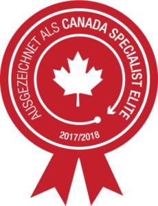 Logo: Ausgezeichnet als Canada Specialist Elite 2017/2018
