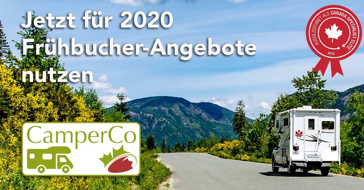 Jetzt Frühbucher-Angebote für 2020 nutzen