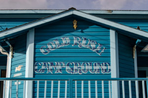 Goldrush Campground in Dawson City, Logo