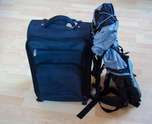 Handgepäck für einen Langstreckenflug