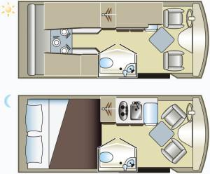 Grundriss eines Campervans (Van Camper)