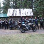 Gruppe von Bikern