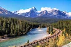 Morant's Curve in den kanadischen Rockies